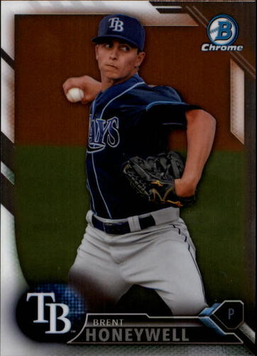 Photo of 2016 Bowman Chrome Draft #BDC184 Brent Honeywell