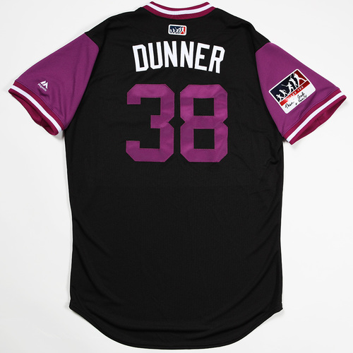 "Photo of Mike ""Dunner"" Dunn Colorado Rockies Team-Issued 2018 Players' Weekend Jersey"