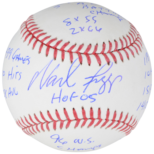 Photo of Wade Boggs Boston Red Sox Autographed Baseball with Career Stat Inscriptions - Limited Edition #24 of 24