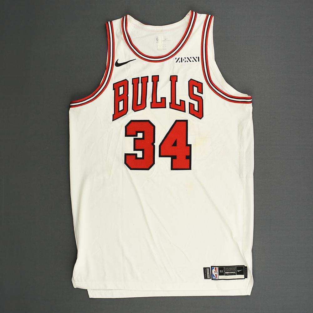 Wendell Carter Jr - Chicago Bulls - Kia NBA Tip-Off 2018 - Game-Worn Association Edition Jersey - NBA Debut