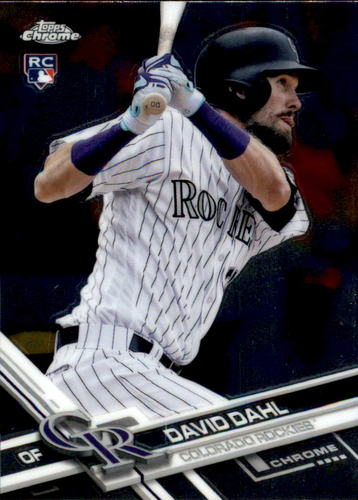 Photo of 2017 Topps Chrome #186 David Dahl Rookie Card