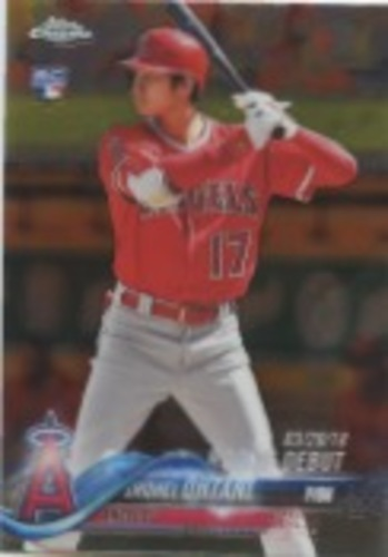 Photo of 2018 Topps Chrome Update #HMT32 Shohei Ohtani Rookie Debut