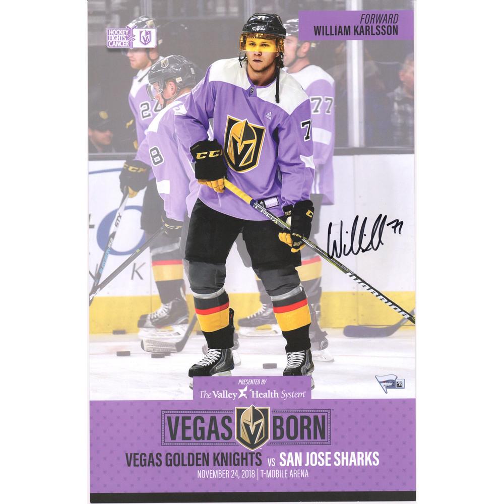 William Karlsson Vegas Golden Knights Autographed 11