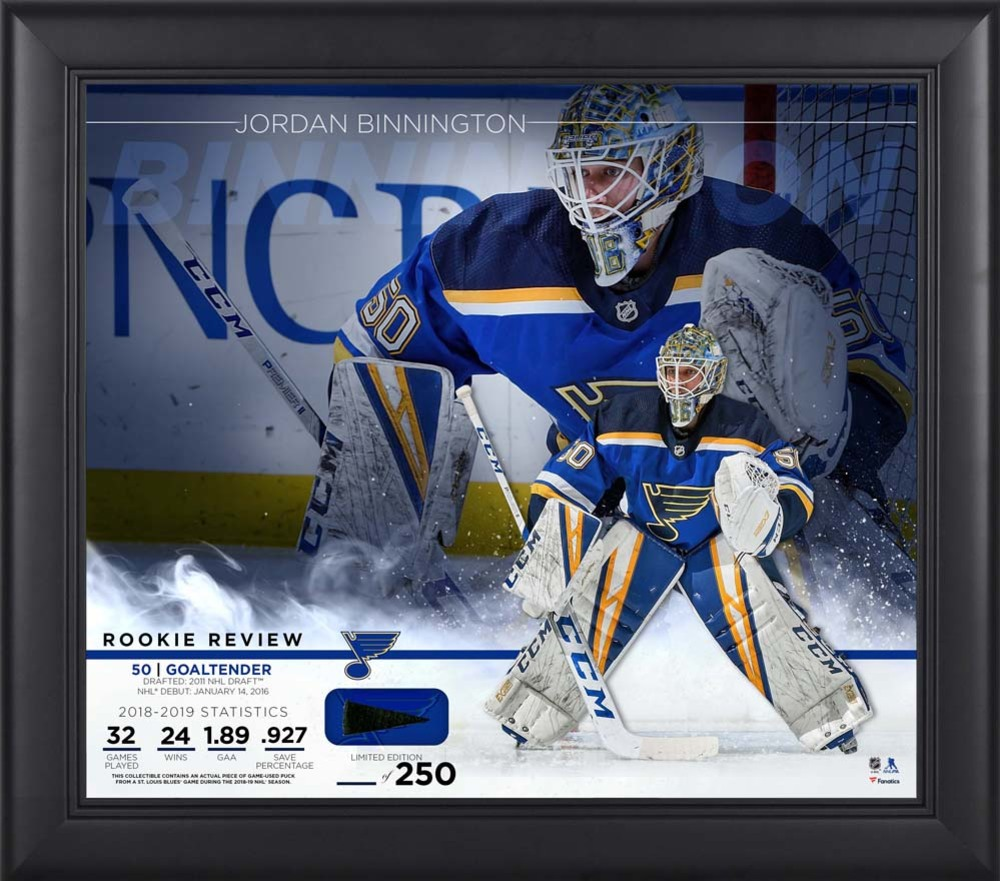 Jordan Binnington St. Louis Blues Framed 15