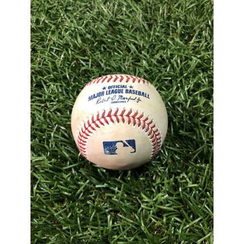 Player Collected Baseball: Austin Meadows 2-R HOME RUN off Wade Miley - March 31, 2019 v HOU