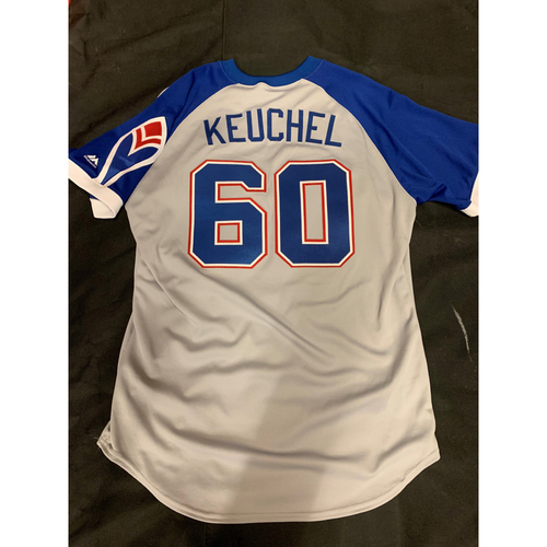 Photo of Dallas Keuchel 1974 Atlanta Braves Throwback Jersey (Not MLB Authenticated)