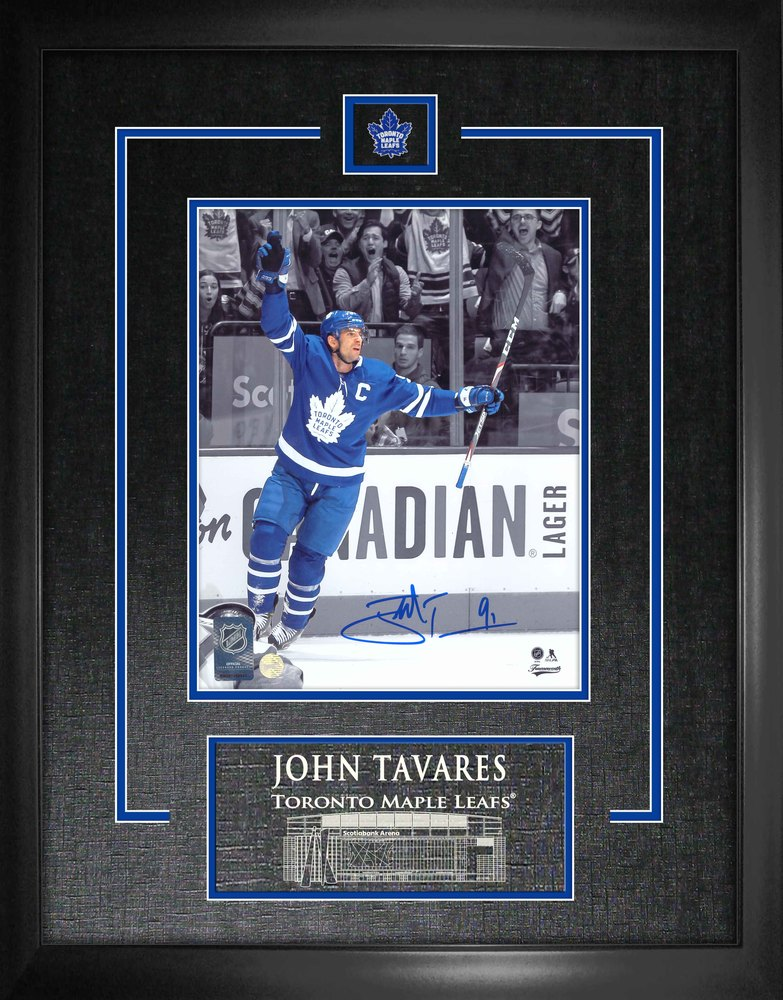 John Tavares Signed 8x10 Etched Mat Maple Leafs Spotlight