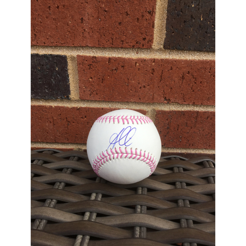 Photo of Ozzie Albies Mother's Day MLB Authenticated Autographed Baseball
