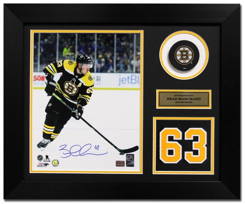 Brad Marchand Boston Bruins Signed Franchise Jersey Number 20x24 Frame