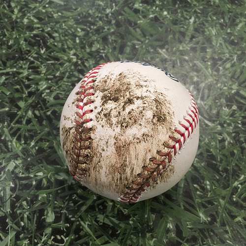 Photo of ALEC MILLS' NO-HITTER Game-Used Baseball CHC@MIL 09/13/20 - Alec Mills - Jedd Gyorko: Foul