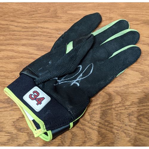 Photo of David Ortiz Autographed Game Used 1000th Fenway Park Game Left Hand Batting Glove