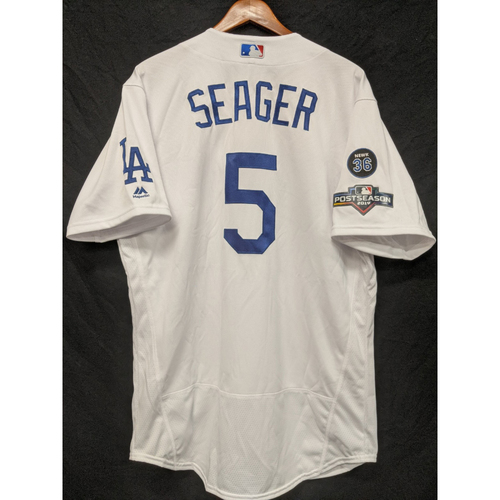 Photo of Corey Seager Team-Issued Home 2019 Post Season Jersey