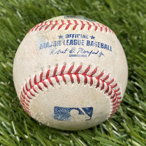 Photo of Freddie Freeman and Ozzie Albies Single Baseball from 4/7/2021 vs. ATL