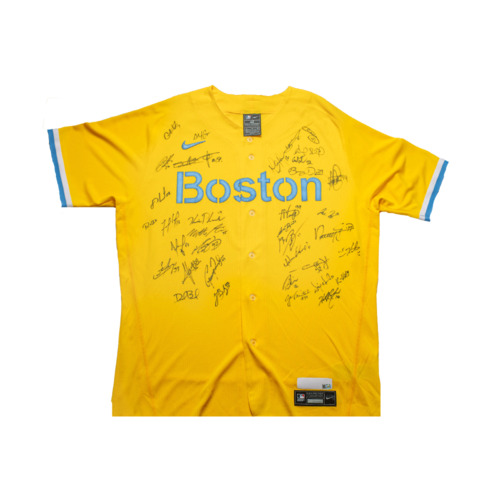 Photo of Red Sox Foundation - Boston City Connect Authentic Jersey Autographed and MLB Authenticated