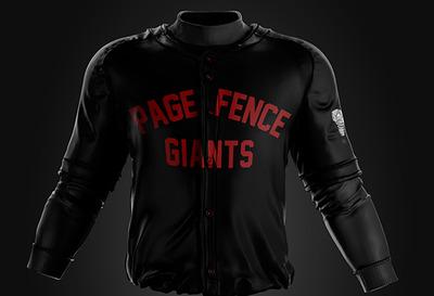 Lansing Lugnuts game worn Page Fence Giants jerseys #21, Richard Gausch, Large