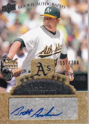 Photo of 2009 Upper Deck Ballpark Collection #72 Brett Anderson AU/200 RC