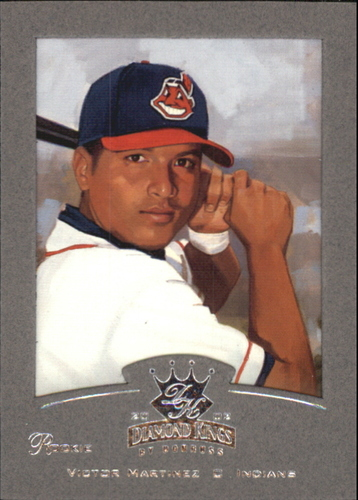 Photo of 2002 Diamond Kings Silver Foil #113 Victor Martinez