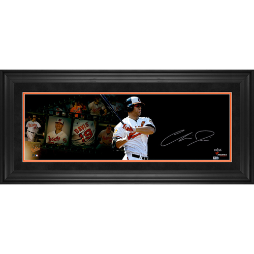 "Photo of Chris Davis Baltimore Orioles Framed Autographed 10"" x 30"" Film Strip Photograph - #25 of a L. E. of 25"