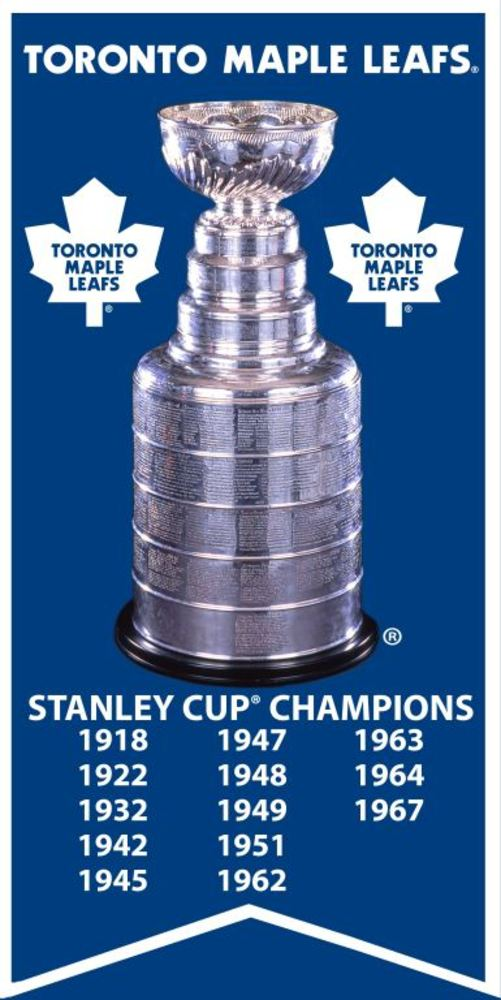 Toronto Maple Leafs - Unsigned 14x28 Canvas - Stanley Cup Banner