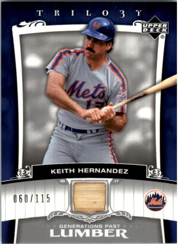 Photo of 2005 Upper Deck Trilogy Generations Past Lumber Silver #KH Keith Hernandez/115
