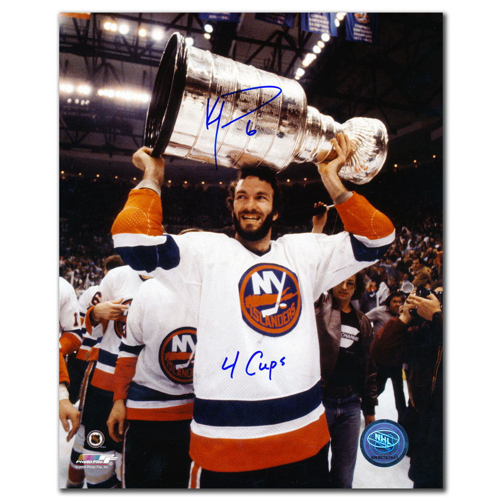 Ken Morrow New York Islanders 4 Cups Autographed 8x10