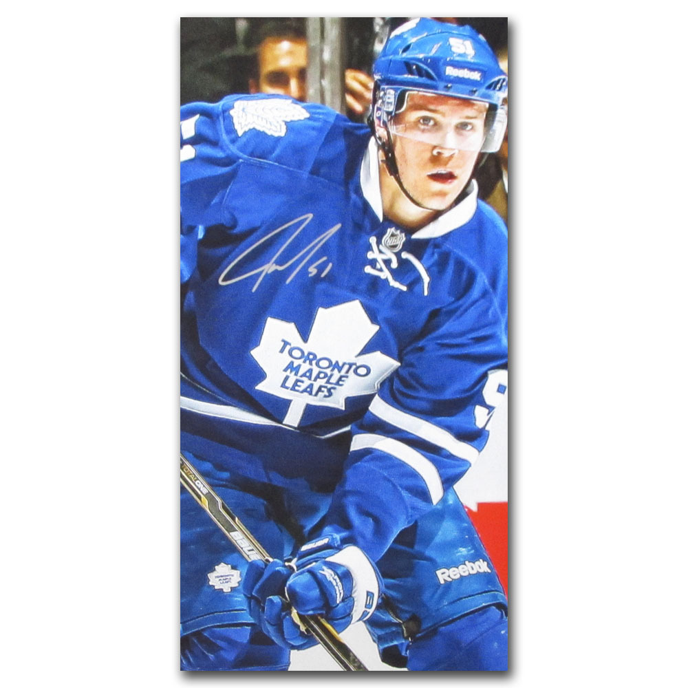 Jake Gardiner Autographed Toronto Maple Leafs 14X28 Canvas