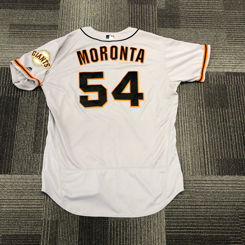 Photo of San Francisco Giants -2017 Game-Used Road Alternate Jersey worn by #54 Reyes Moronta