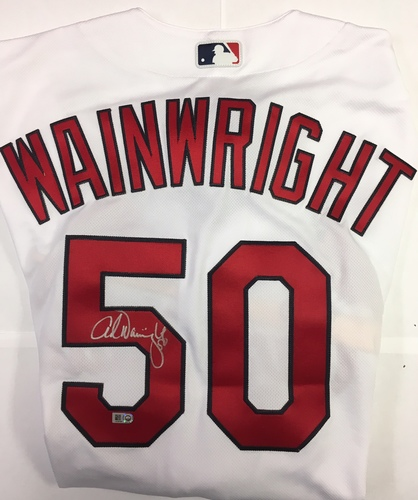 Photo of Adam Wainwright Autographed Authentic Cardinals Jersey