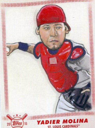Photo of 2018 Topps Big League Star Caricature Reproductions #SCRYM Yadier Molina
