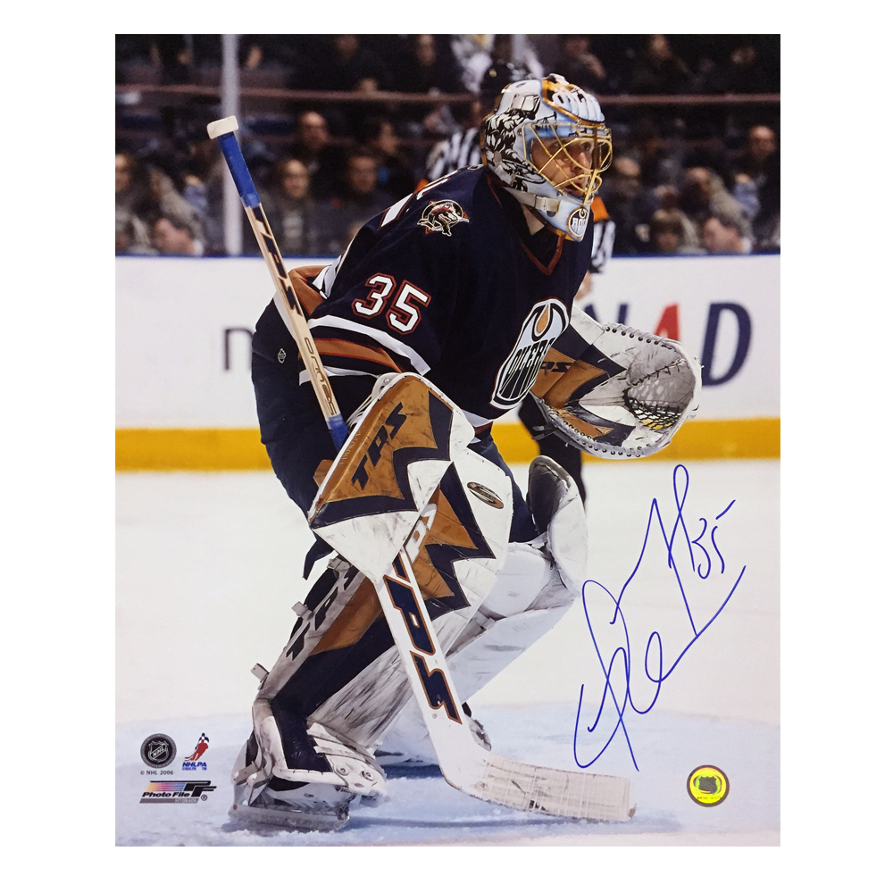 DWAYNE ROLOSON Signed Edmonton Oilers 16 X 20 Photo - 79112