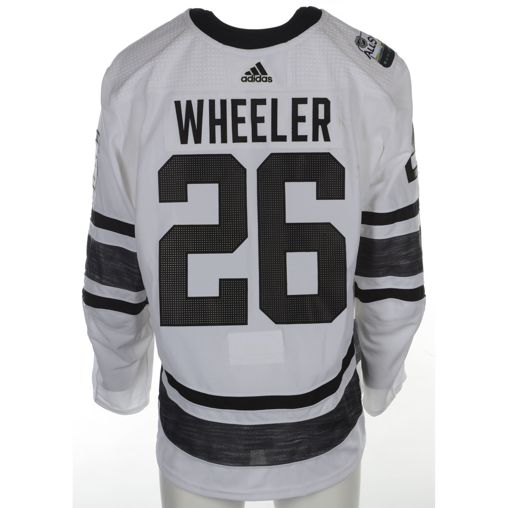 hot sale online d285b 69f6f Blake Wheeler Winnipeg Jets Game-Used 2019 All-Star Game ...
