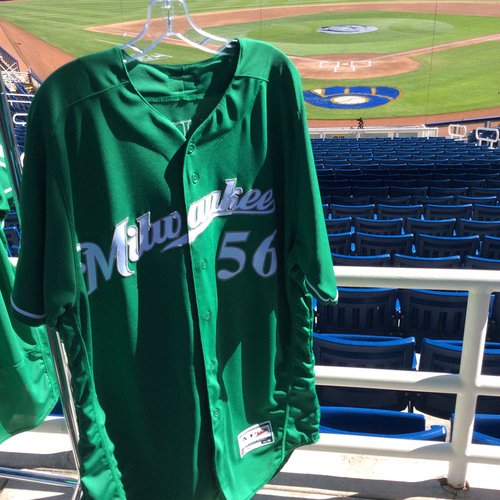 Photo of Aaron Wilkerson 2018 Team-Issued St. Patrick's Day Jersey