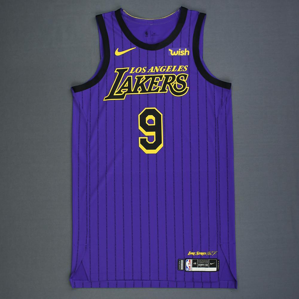 67a006850 Rajon Rondo - Los Angeles Lakers - Game-Issued City Edition Jersey - 2018-