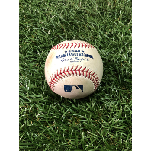 Player Collected Baseball: Yandy Diaz HOME RUN (#2 Career HR) off Gerrit Cole - March 29, 2019 v HOU
