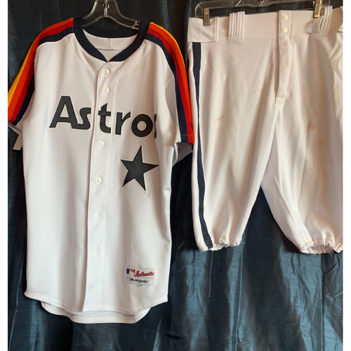 2019 Turn-Back-The-Clock George Springer Game-Used Uniform Package