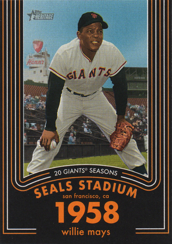Photo of 2020 Topps Heritage 20 Gigantic Seasons #9 Willie Mays
