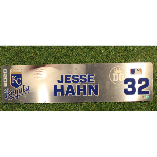 Photo of Game-Used Locker Tag: Jesse Hahn #32 (DET @ KC 9/24/20)