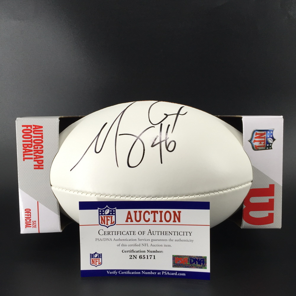NFL - Titans Morgan Cox Signed Panel Ball