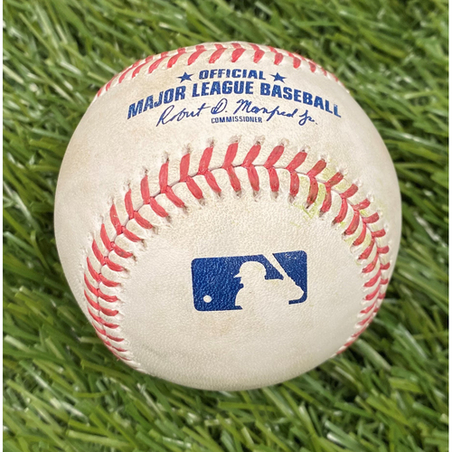 Photo of Stephen Strasburg Strikeout Baseball from 4/7/2021 vs. ATL