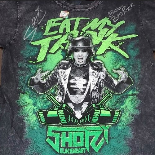 "Photo of Shotzi Blackheart SIGNED ""Eat My Tank"" Mineral Wash T-Shirt (Ballsy Badazz)"