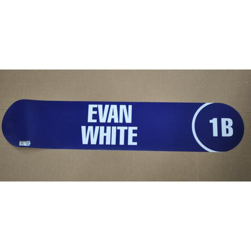 Photo of 2017 MLB Draft Nameplate - Evan White