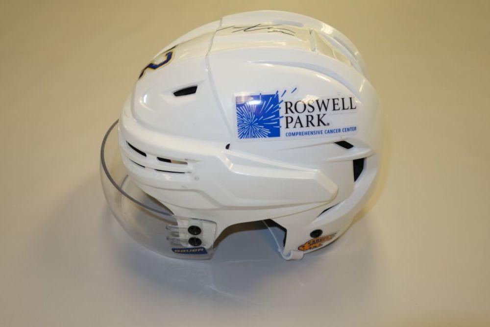 Tage Thompson 2020-21 Autographed Game-Used Helmet