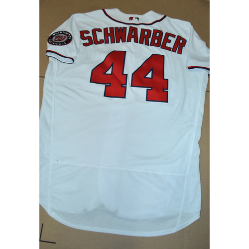 Hank Aaron Chasing the Dream Foundation: Kyle Schwarber 2021 MLB All-Star Workout Day BP Team-Issued # 44 Jersey