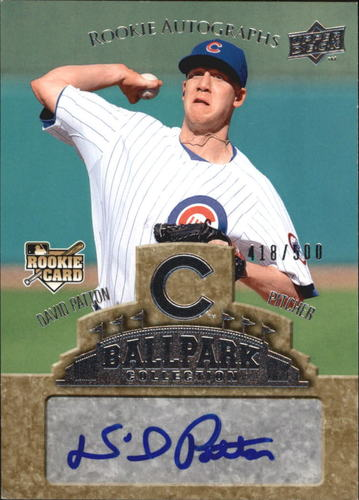Photo of 2009 Upper Deck Ballpark Collection #75 David Patton AU/500 RC