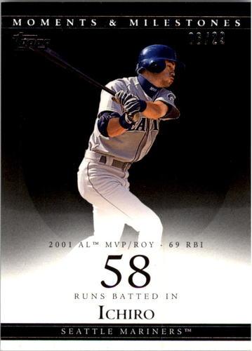Photo of 2007 Topps Moments and Milestones Black #10-58 Ichiro Suzuki/RBI 58