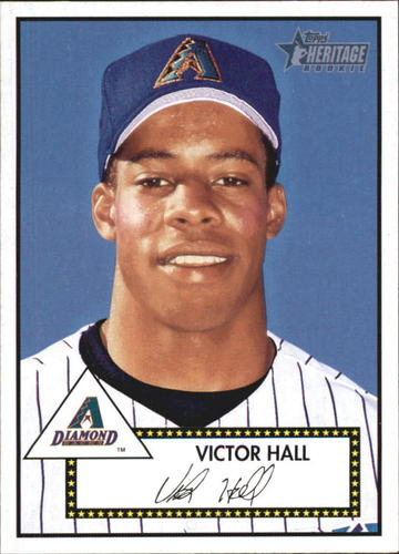 Photo of 2001 Topps Heritage #293 Victor Hall RC