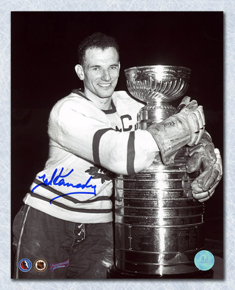 Teeder Kennedy Toronto Maple Leafs Autographed Stanley Cup 8x10 Photo