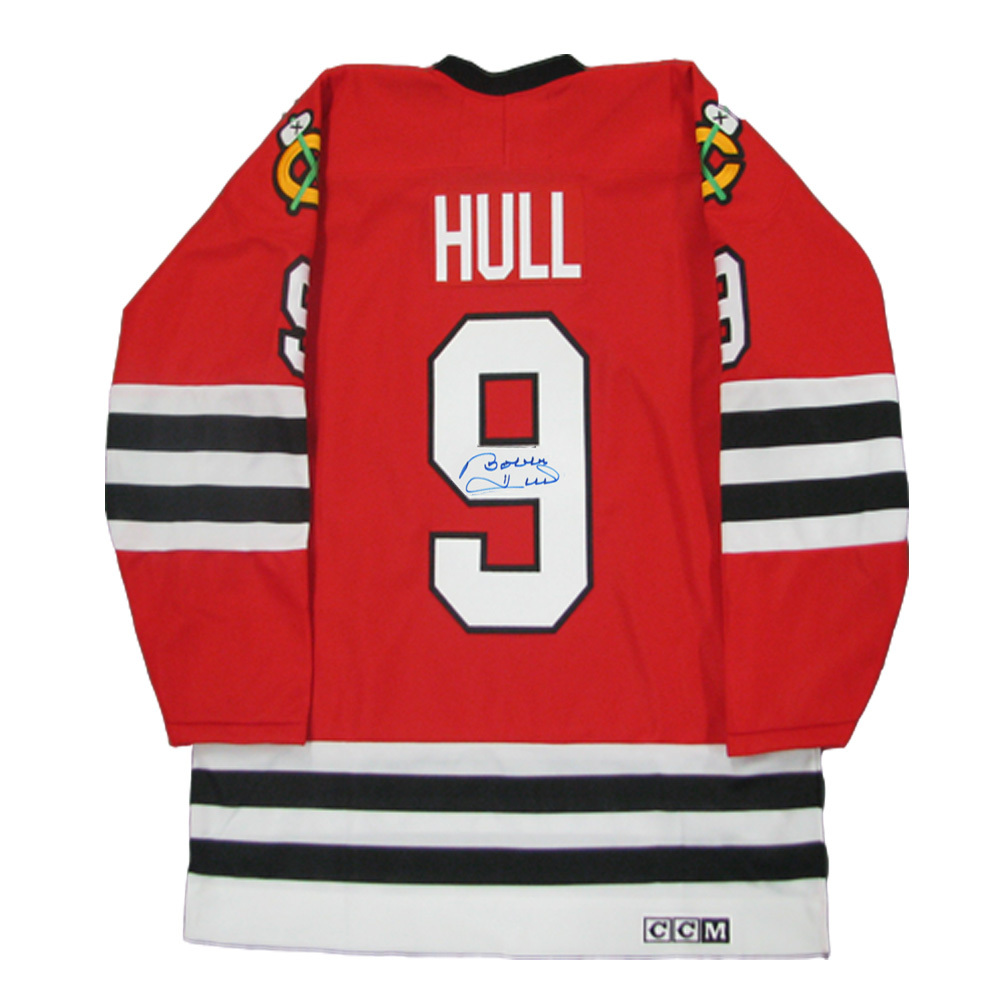 BOBBY HULL Signed Vintage Chicago Blackhawks Red CCM Jersey