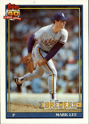 Photo of 1991 Topps #721 Mark Lee RC