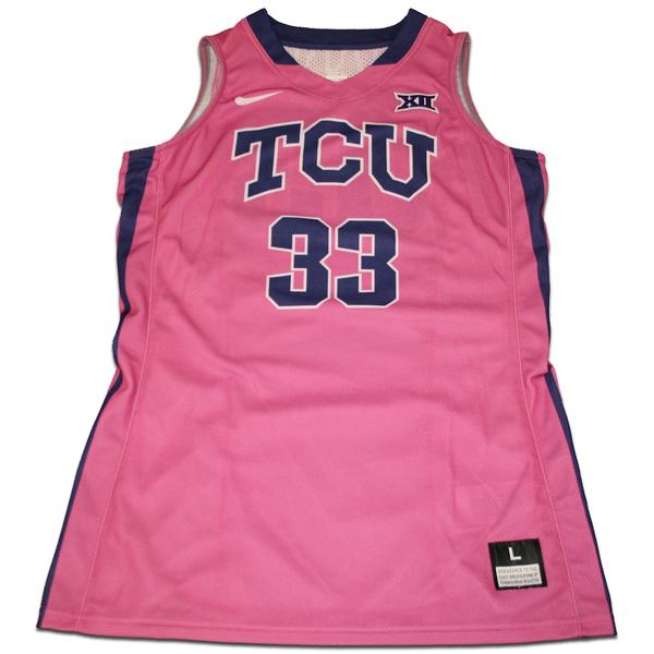 Photo of Women's Basketball Pink Game Worn Nike® Jersey #33 (L)